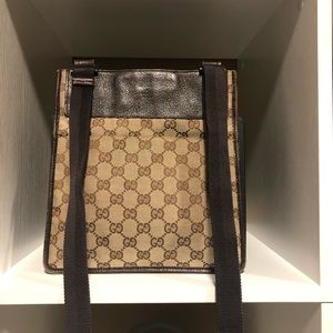 Authentic Gucci monogram crossbody bag